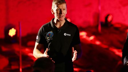 UK ESA Astronaut Tim Peake at the Mars Rover Naming Ceremony held at Airbus Defence and Space UK, St