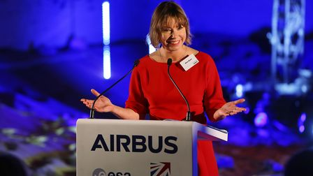 Dr Alice Bunn, Director of International, UK Space Agency speaking at the Mars Rover Naming Ceremony