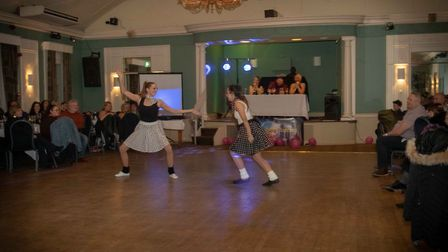 The winners were Hayley and Amy from Ambition Dance Academy, who performed a rock and roll number .