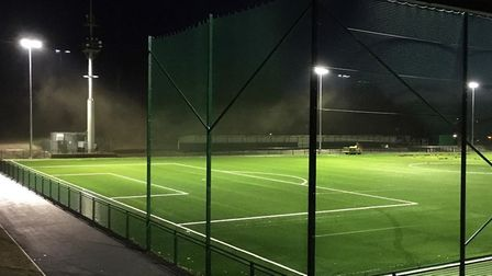 The brand new 3G pitch at Hertfordshire FA's headquarters, Stevenage FC Foundation's new home. Pictu