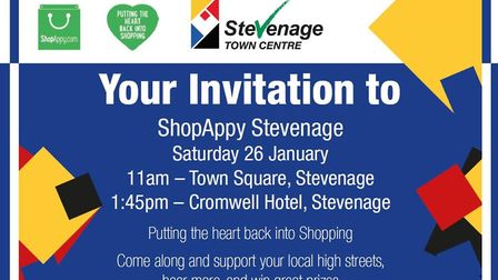Residents and visitors are invited to the launch of the ShopAppy initiative in Stevenage.