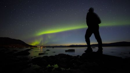 Stotfold's Tom Young slept under the northern lights on his arctic trek through Lapland. Picture: To