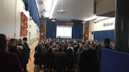 The meeting between Future Academies and Barclay parents. Picture: Vickie Saunders