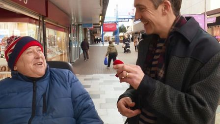 Stevenage shoppers were asked what they thought of Poundland's engagement rings by BBC's The One Sho