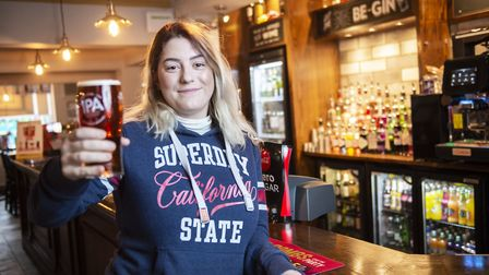 Holly Edwards, 23, is the UK's first ever 'pub-licist', and will be paid to enjoy a pint and some fo