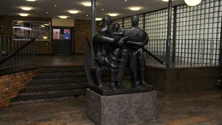 The Henry Moore sculpture at The Barclay Academy in Stevenage. Picture: Danny Loo