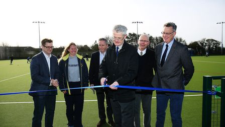 The opening of the new Blueharts Clubhouse. Picture: DANNY LOO