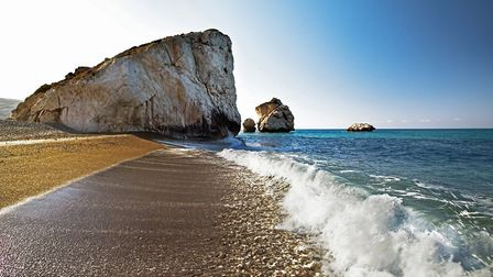 Visiting Cyprus: Aphrodite's Rock is a beautiful - and potentially romantic - spot be it morning, af