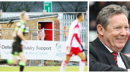 Work on the North Stand has restarted as Stevenage FC chairman Phil Wallace looks for outside invest