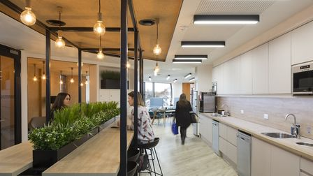 Communal areas offer the chance to socialise and collaborate with other businesses