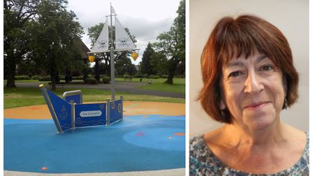 Hitchin Bearton councillor Judi Billing as provided an update on Bancroft's splash park. Picture: Ar