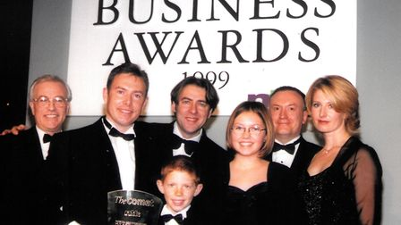 Stevenage Packaging at the 1999 North Hertfordshire Business Awards with Jonathan Ross. Picture: The