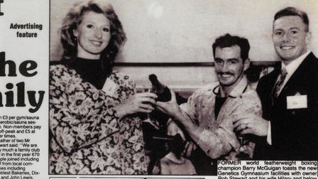 Robert and Hilary Stewart double the size of Genetics Gymnasium in 1993. Picture: The Comet