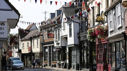 Bucklersbury is one of the most picturesque streets in Hitchin. Picture: Danny Loo
