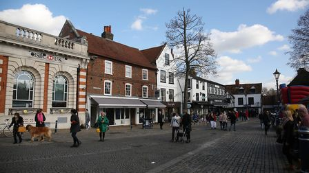 Market Place often has weekend farmers markets, craft fairs and various other events. Picture: Da