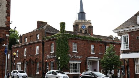 The café and restaurant at The George is housed in a 15th-century building. Picture: Danny Loo