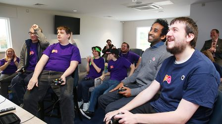 The Hitchin Hellhounds Esports team compete against Seven Deadly Snakes from Watford at Blueharts Ho