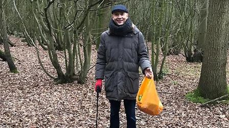 Gary Walsh is determined to help clean up Stevenage.