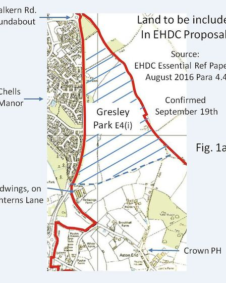 The proposed location of Gresley Park.