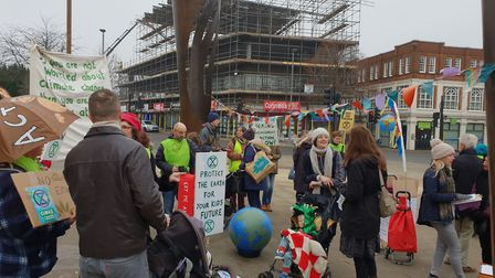Extinction Rebellion Letchworth hosted its first demonstration in the town on Saturday, one day afte