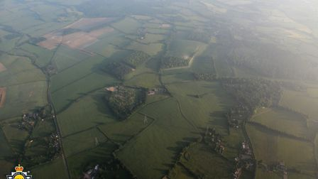 An image showing farmland around William Taylor's home in Gosmore, south of Hitchin, on June 8. Pict