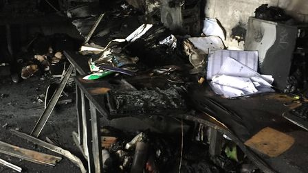 Letchworth-based Allplas caught fire when a laptop was left on charge over night. Picture: Steve Paf