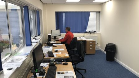 A year ago the office at Allplas in Letchworth caught fire after a laptop battery exploded. Picture: