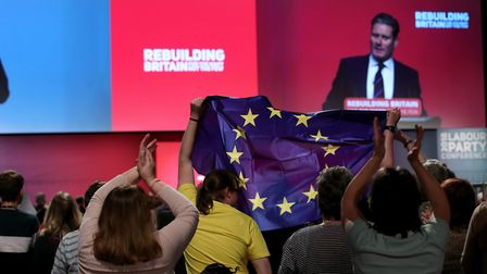 Shadow Brexit secretary Sir Keir Starmer at Labour Party conference. Photograph: Peter Byrne/PA.