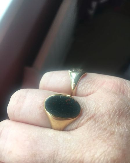 One of the five rings stolen from a property in Aston. Picture: Herts Police