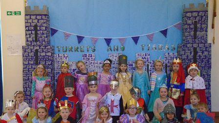 Weston Primary and Nursery School held a Turrets and Tiaras themed dress up for World Book Day. Pict