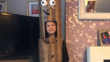 Ella-Grace ready for World Book Day at the Garden City Academy. Picture: Samantha-Joanne Orchard