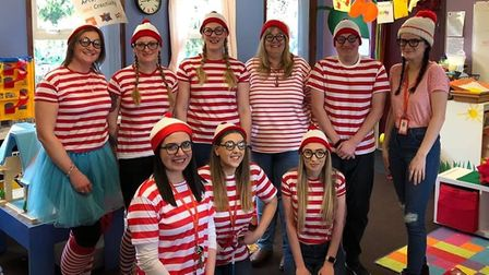 Staff at the Playhouse Pre-School in Stevenage got into the sprit of World Book Day. Picture: Playho