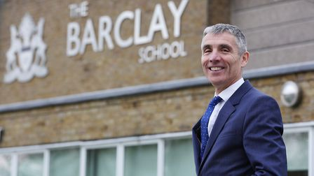 Barclay Academy headteacher Mark Allchorn is leaving at Easter. Picture: DANNY LOO