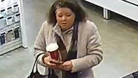 Police want to speak to this woman in connection with a fraud offence in Stevenage. Picture: Herts p