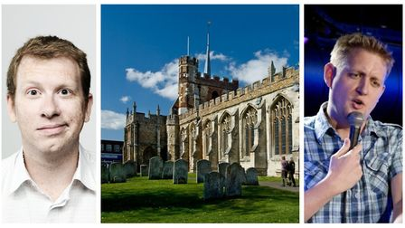 Paul Kerensa (left) and Howard Read are both set to perform at St Mary's Church. Picture: Archant