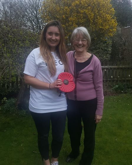 Laura Manton with Pat Jeffery, Poppy Appeal organiser at the Stevenage branch of the Royal British L