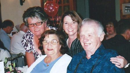 John Ransome with wife Valerie and daughter Yvonne and Tracey in 2009. Picture: Irwin Mitchell