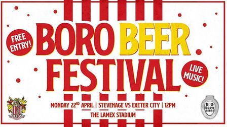 Stevenage FC's Boro Beer Festival will be the first of its kind. Picture: Stevenage FC
