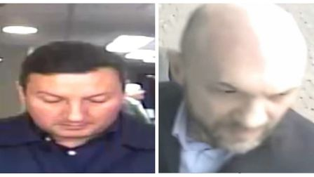 Police have release CCTV images of two people they would like to speak with after bank cards were st