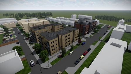 This is what the proposed redevelopment of Westmill's John Barker Place could look like. Picture: Se
