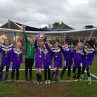 Wilshere-Dacre Junior Academy's trophy-winning girls football team, CREDIT @laythy29