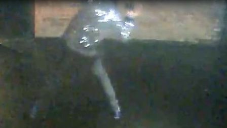 Officers want to speak to the person pictured after Letchworth Police Station was vandalised at the