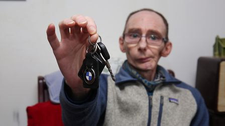 Stevenage cancer sufferer Graham Harrison had his car stolen from just outside his flat in Townsend