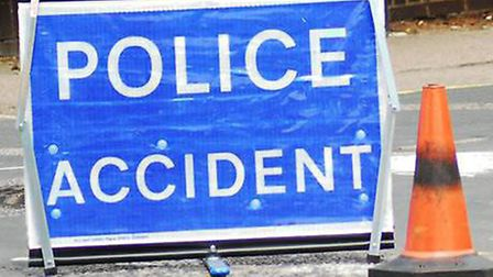 Police and ambulance services were called to a crash between four cars at Watton-at-Stone. Picture: