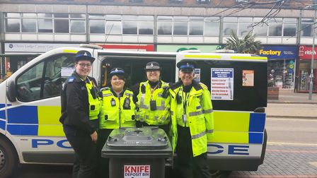 Hertfordshire police knives amnesty: 680 knives were deposited in the bins at police stations in Hat
