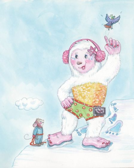 Professional illustrator Joanna Scott helped Richard Barr bring the characters to life. Picture: Joa