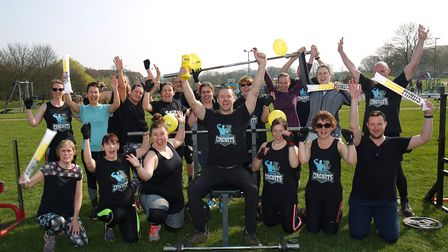 Phil Burman at his free boot camp which raised money for charity Young Minds. Picture: DANNY LOO