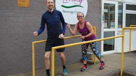 George Livingston and Vicky Cottom have their sights set on raising as much money as they can for Th