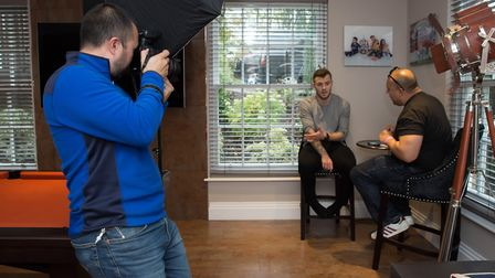 The Comets Photographer Danny Loo on location with West Ham United and England player Jack Wilshere