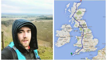 Reece will face all kinds of terrain on his journey across Great Britain, Picture: Reece McCullagh.